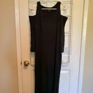 XL Black Mossimo Cold Shoulder Dress